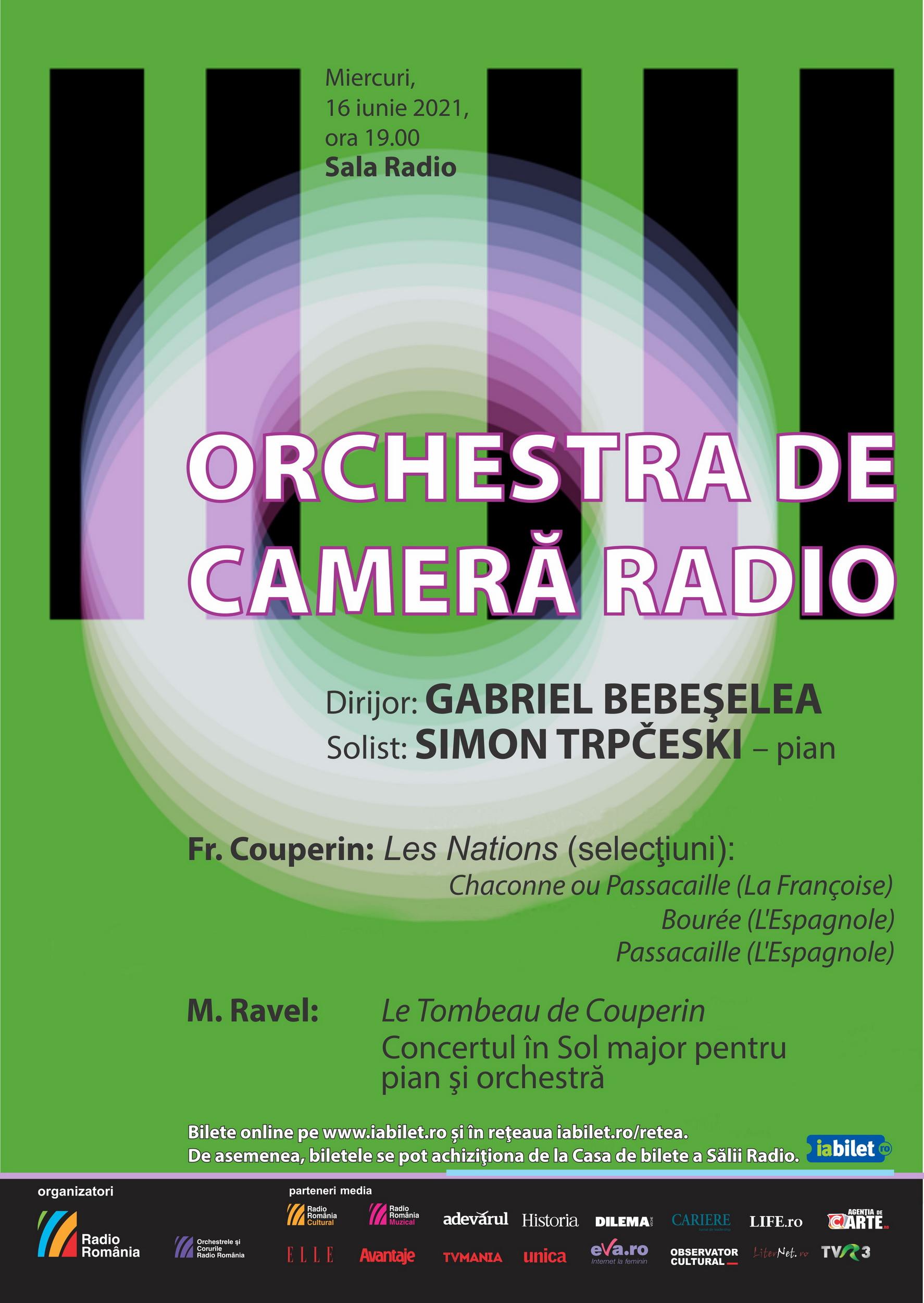 (P) Concert de muzică franceză închide stagiunea Orchestrei de Cameră Radio.