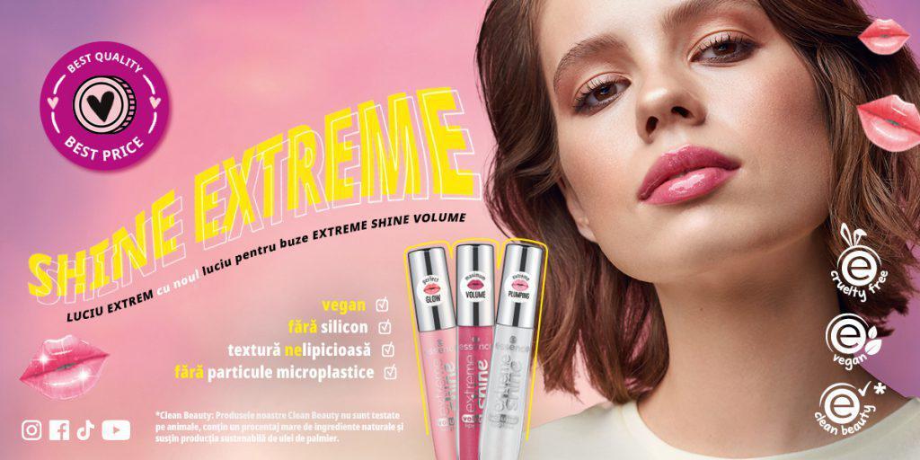 (P) SHINE EXTREM cu noul EXTREME SHINE VOLUME LIPGLOSS