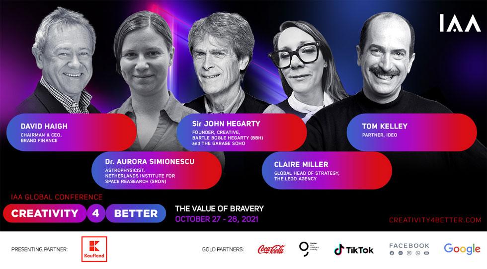 """Conferința globală IAA """"Creativity4Better"""" revine în 2021 cu cea de-a 5-a ediție Tema ediției din 2021: The Value of Bravery"""