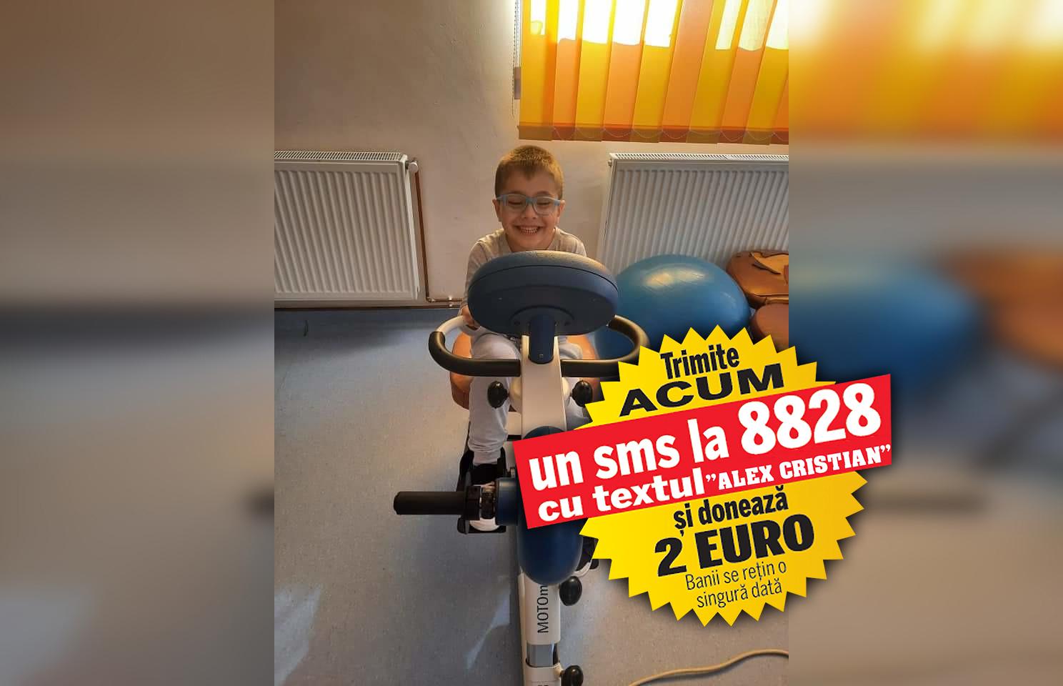 """Mușchii lui Alex au """"înghețat"""", iar copilul îndură chinuri groaznice. Băiatul de șase ani suferă de paralizie cerebrală și are nevoie de 2.000 de euro pentru a fi operat la Chișinău"""