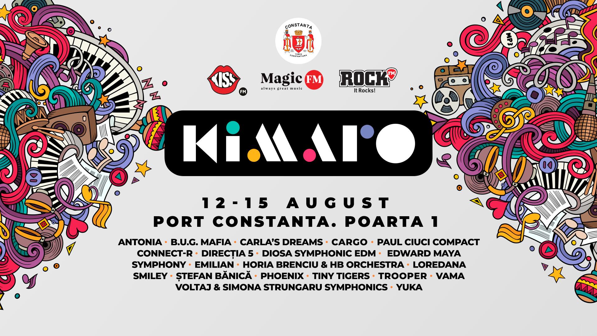 (P) Kiss FM, Magic FM și Rock FM prezintă KIMARO, cel mai mare festival al muzicii românești